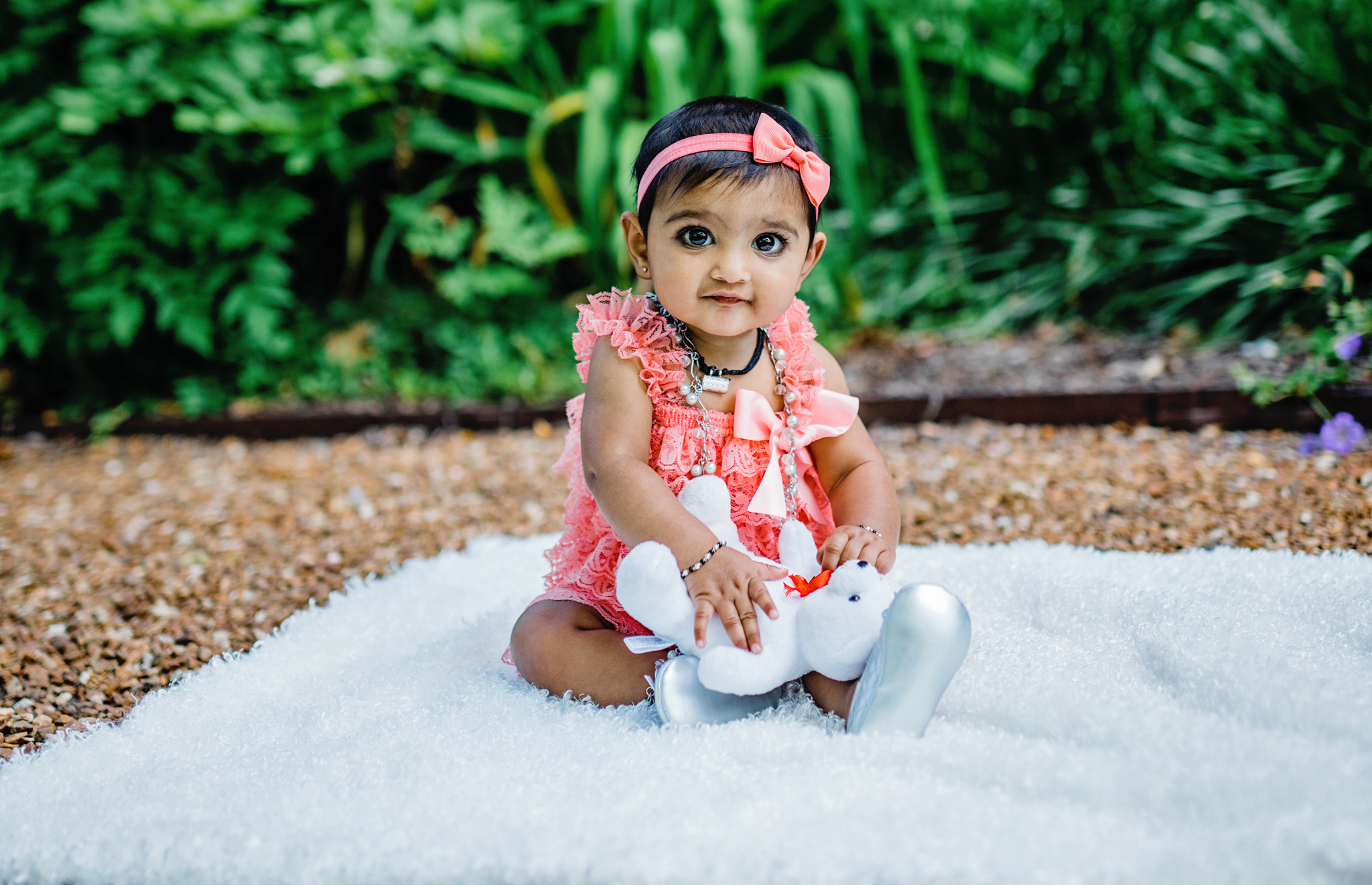 6 MONTHS OLD PRINCESS PHOTO SESSION @ CANTIGNY PARK