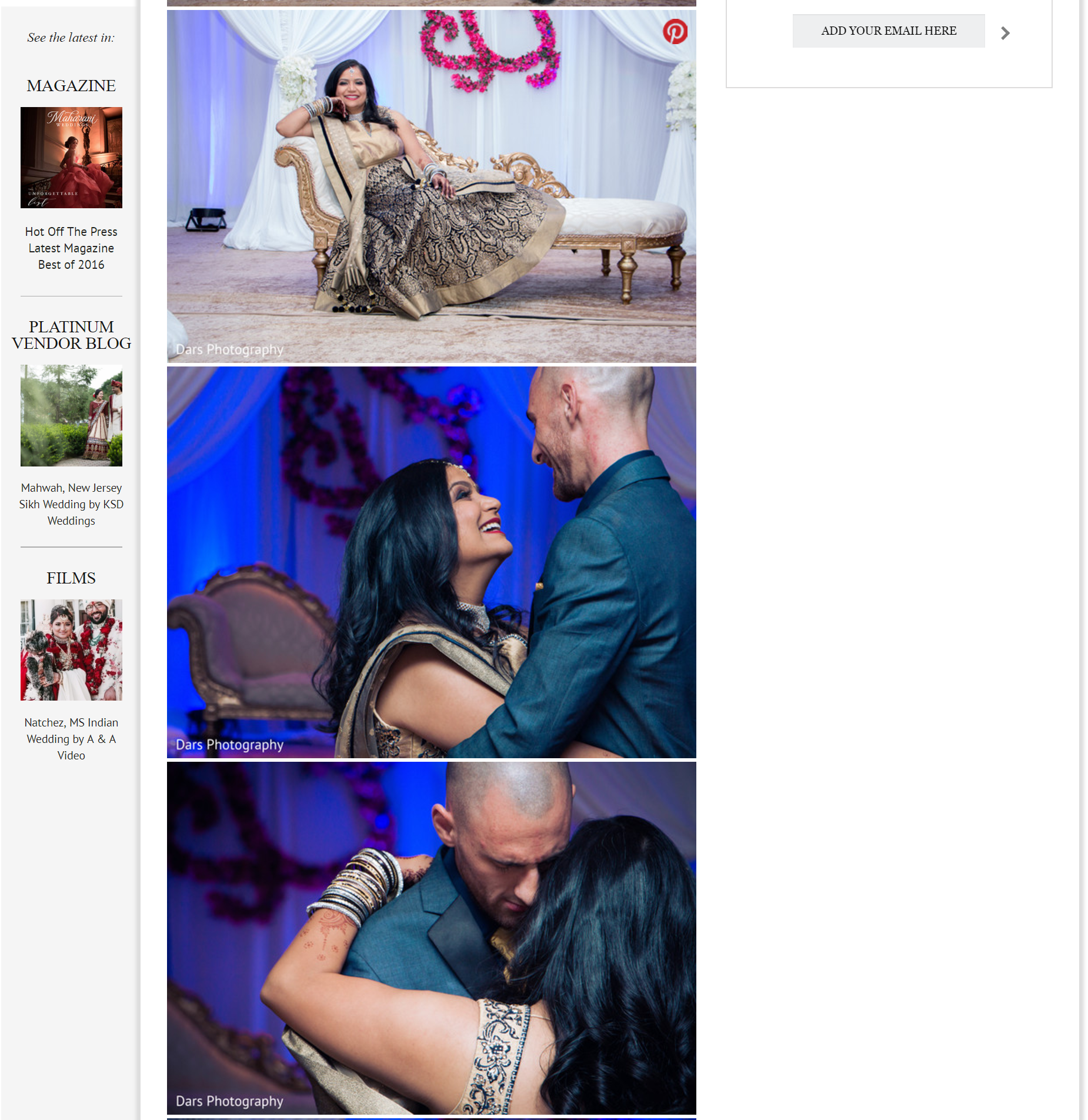 DARS Photography MAHARANI WEDDING FEATURED WEDDING