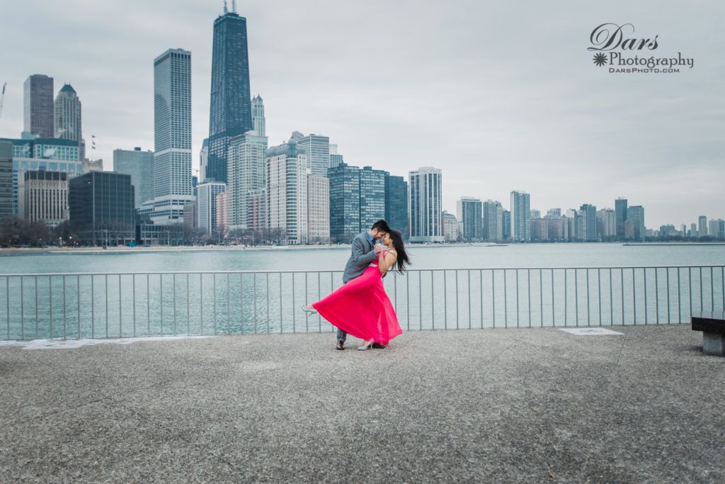 Chicago Downtown Proposal by DARS Photography Chicago Indian and American Wedding Photographer