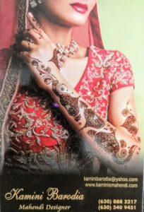 Mahendi Designed Kamini Barodia
