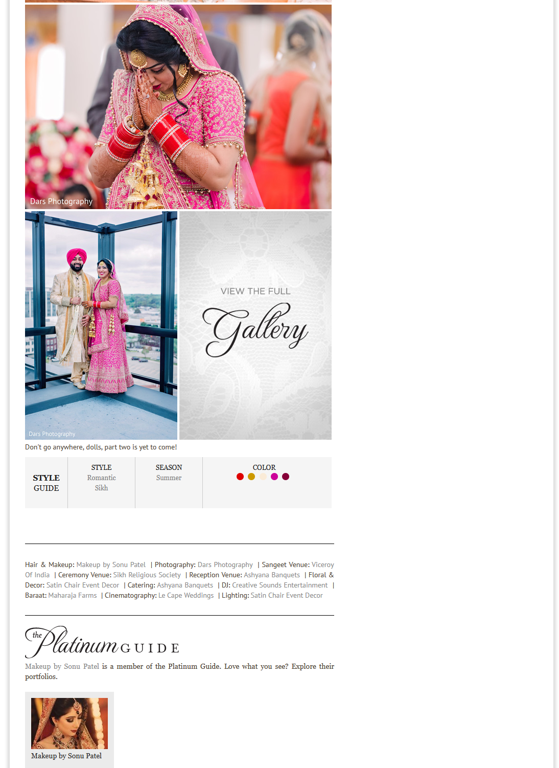 DARS Photography featured by MAHARANI WEDDINGS